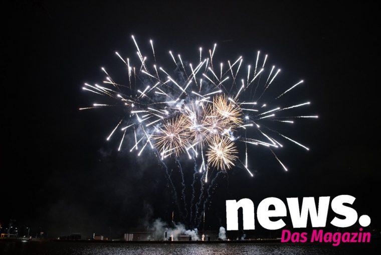 Internationalen Feuerwerkswettbewerb an der Schachtschleuse Minden 2019