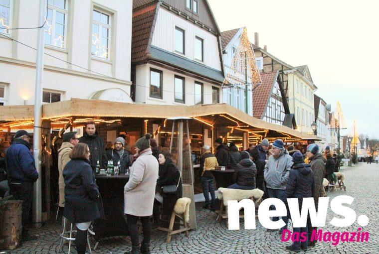 Bückeburger Weihnachtsmarkt mit dem Eisstockschießen