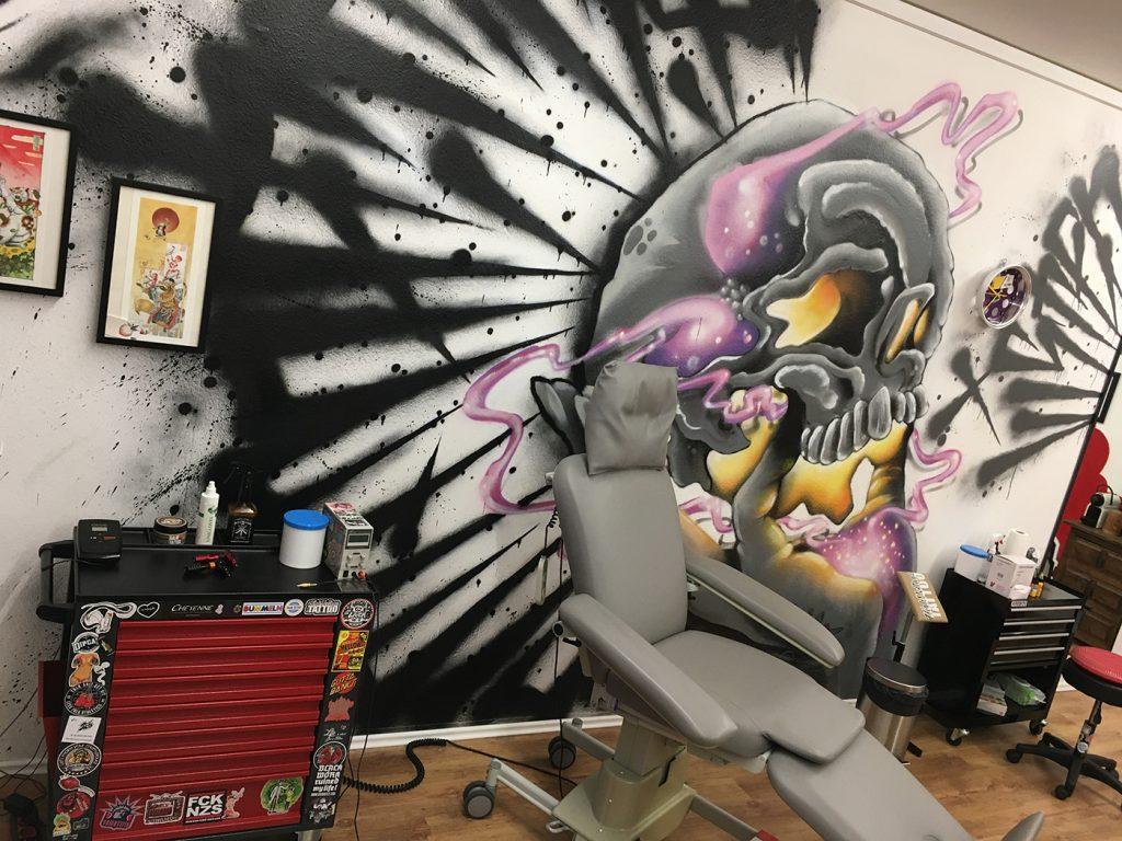 Impression des neuen Studios von High Voltage Tattoo Minden. Foto: privat