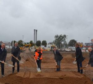 1. Spatenstich für den Neubau der Mindener Stadtwerke